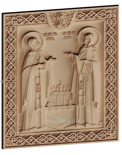 stl модель-Икона Св. Петр и Феврония