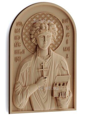 stl модель-Икона Св. Пантелеймон