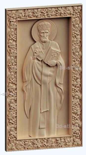 3d stl модель-икона Св.Николай Чудотворец