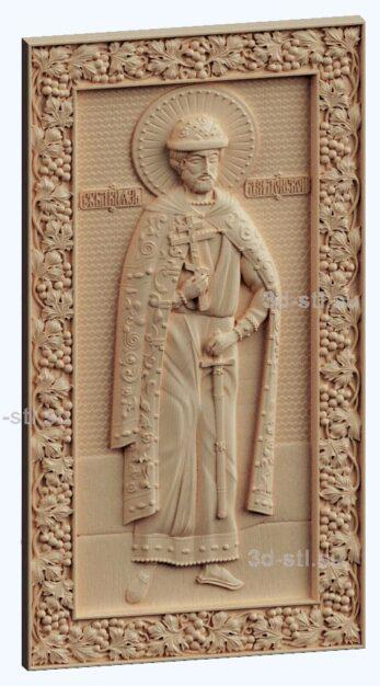 3d stl модель-икона Св. Князь Дмитрий Донской