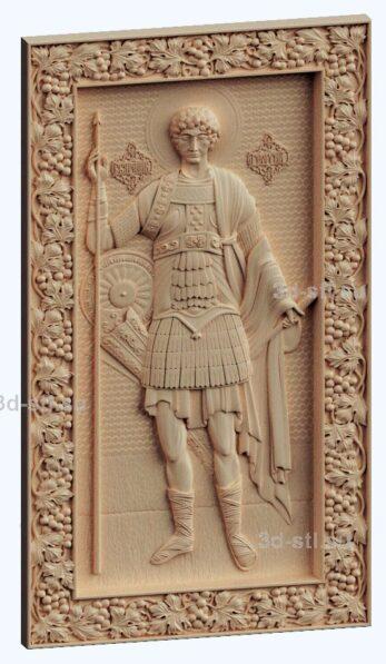3d stl модель-икона Св. Георгий Победоносец