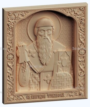 3d stl модель-икона Св. Спиридон Тримифунтский