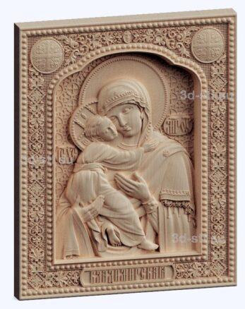3d stl модель-Божья Матерь Владимирская  икона № 527