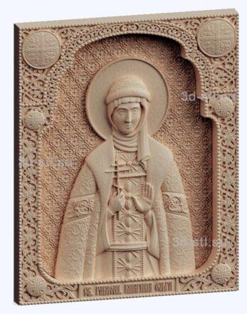 3d stl модель-Св. Ольга  икона № 536