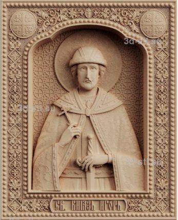 stl модель-икона Князь Игорь