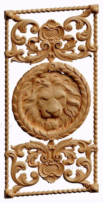 stl модель-нарды лев
