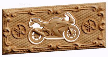stl модель-нарды с мотоциклом