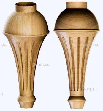 3d stl модель-ножка № 134