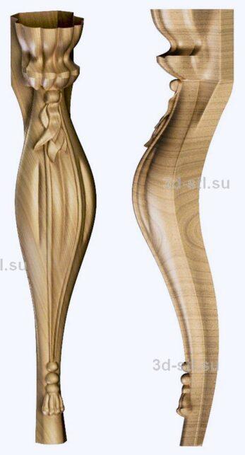3d stl модель-ножка № 136