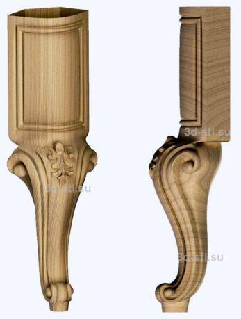 3d stl модель-ножка № 139