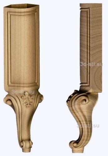 3d stl модель-ножка № 140