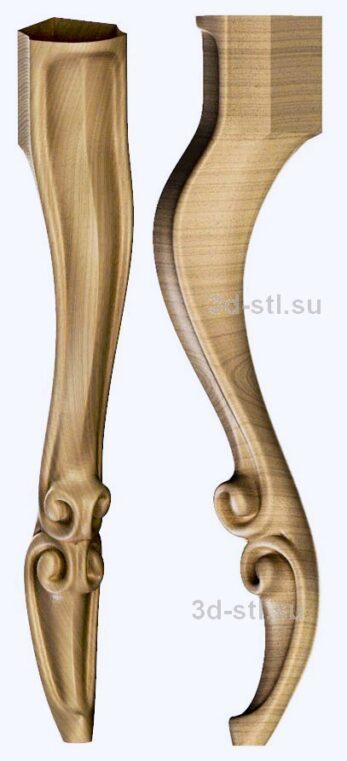 3d stl модель-ножка № 142