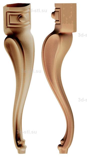 3d stl модель-ножка № 174