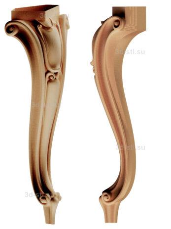 3d stl модель-ножка № 176