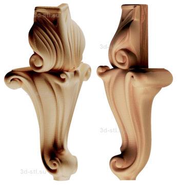 3d stl модель-ножка № 180