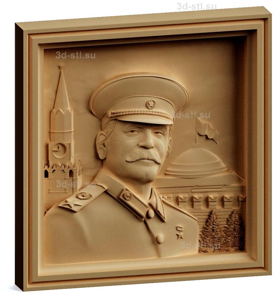 stl модель-Панно Сталин