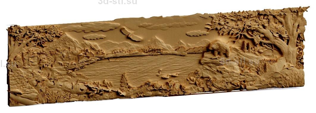 stl модель-Панно Жизнь леса