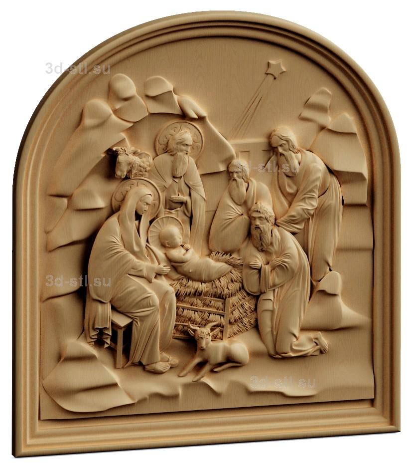 stl модель-Панно Рождество Христово