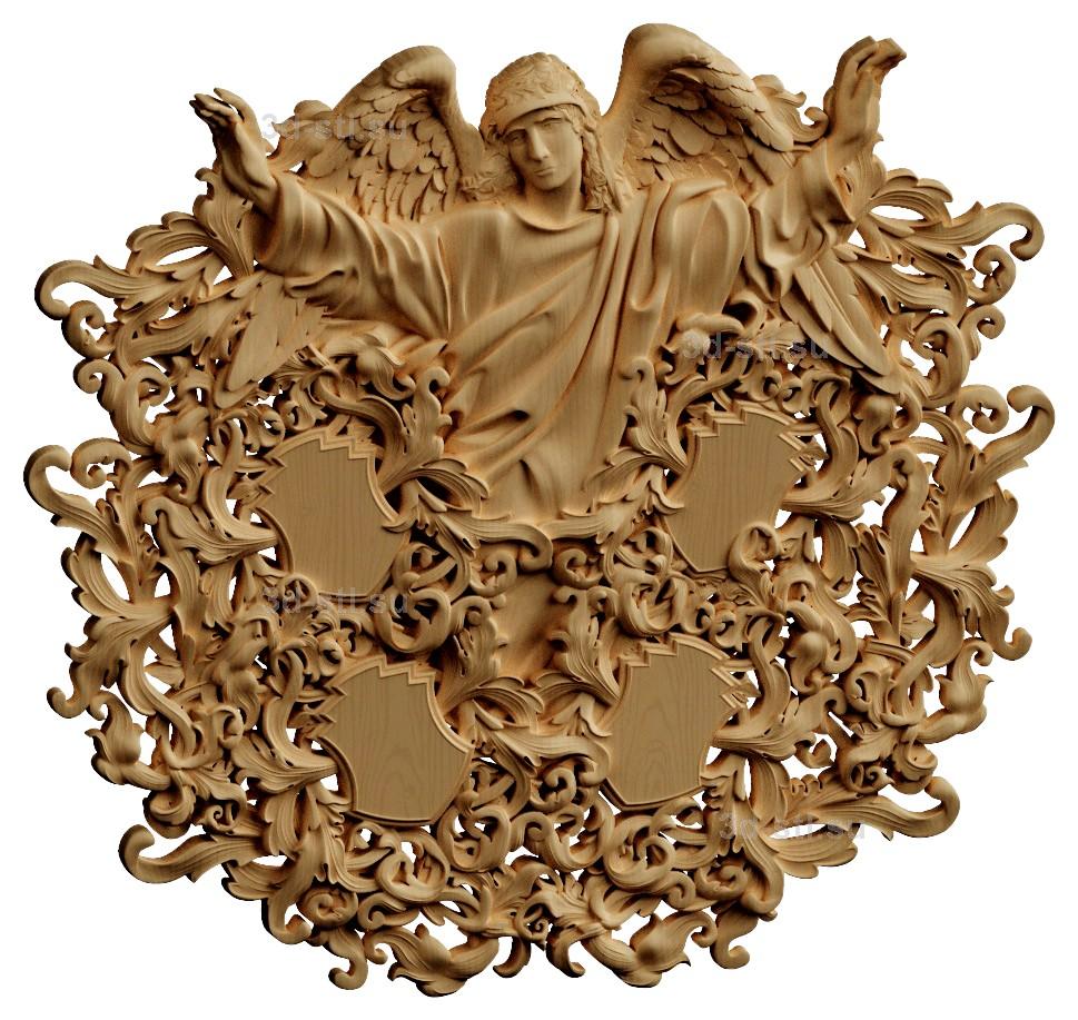 stl модель-Панно Фамильное дерево с ангелом