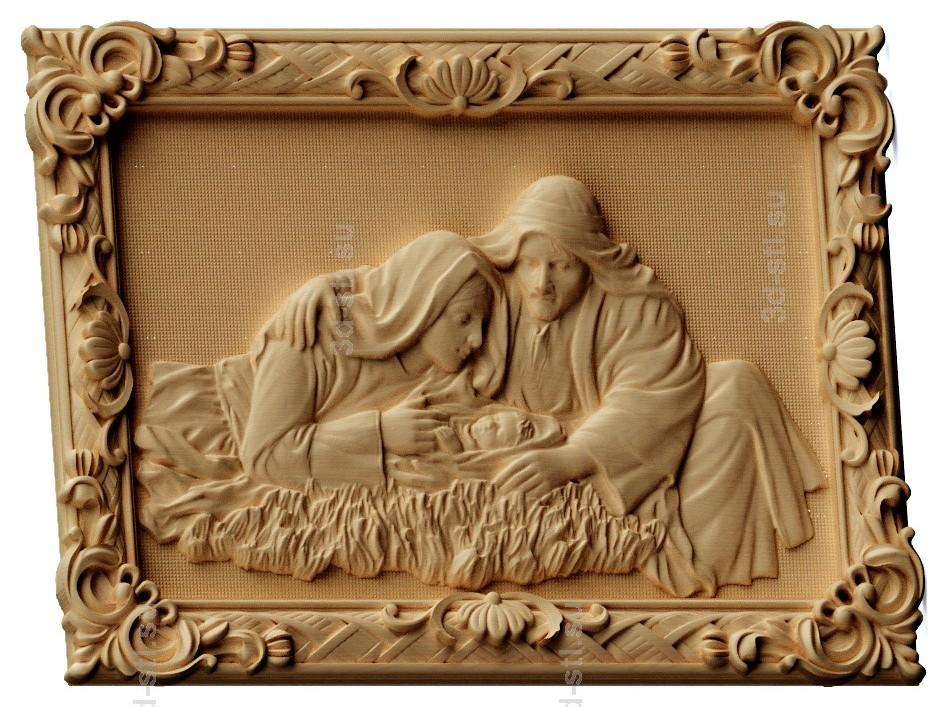 stl модель-Панно Рождество Христовое
