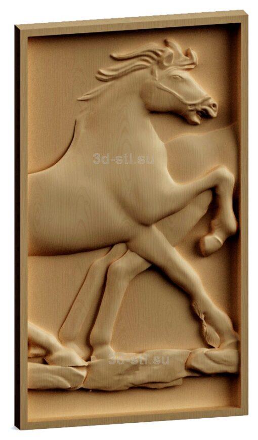 stl модель-Панно Конь передняя его часть