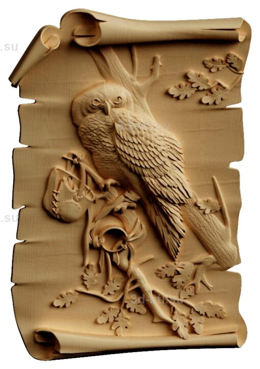 stl модель-Панно Птитца