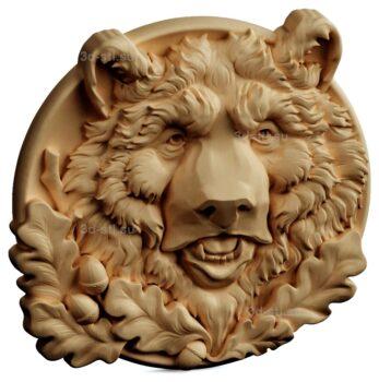 stl модель-Панно Голова медведя
