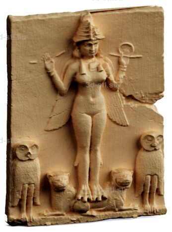 stl модель-Панно Богиня Иштар