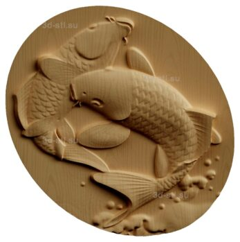 stl модель-Панно Рыбы