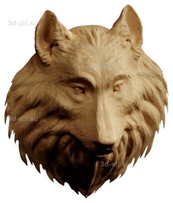 stl модель-Панно Голова собаки колли