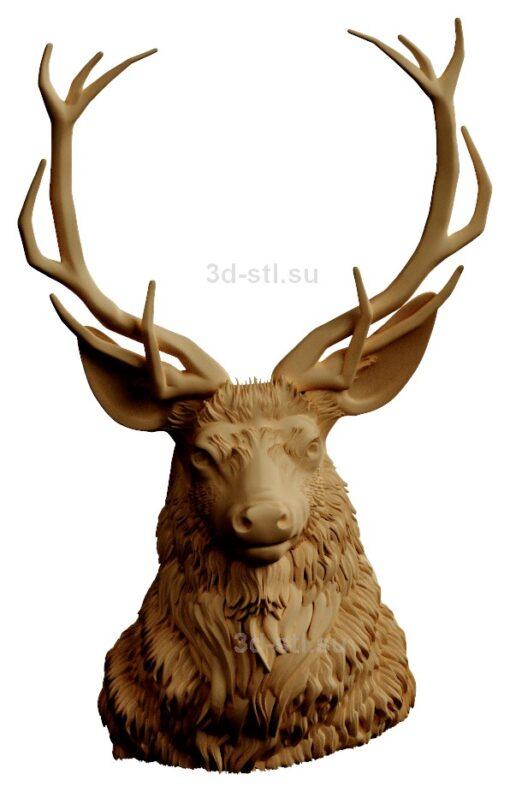 stl модель-Панно Голова оленя