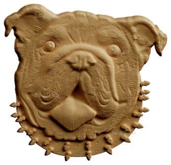 stl модель-Панно Собачка голова