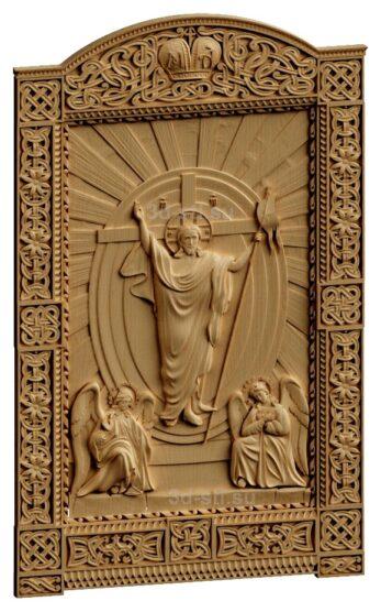 stl модель-Панно Иисус на пристоле