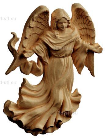 stl модель-Панно Ангел