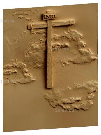 stl модель-Панно Крест без Христа