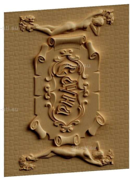 stl модель-Панно Сауна- табличка