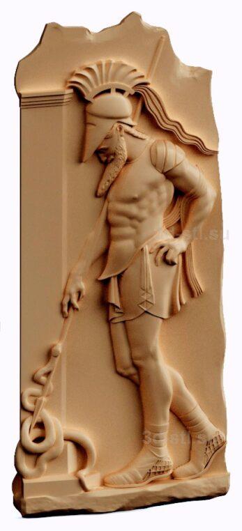stl модель-панно Спартанец