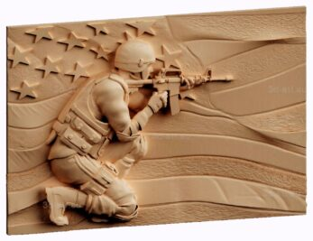 stl модель-панно Американский солдат