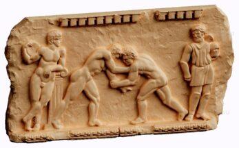 stl модель-панно Греко-римская борьба