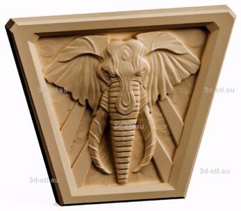 3d stl модель-панно  слон с просторов