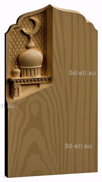 3d stl модель-панно Мечеть
