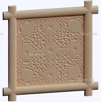 3d stl модель-крест панель