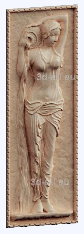 3d stl модель-девушка с кувшином панно № 1123
