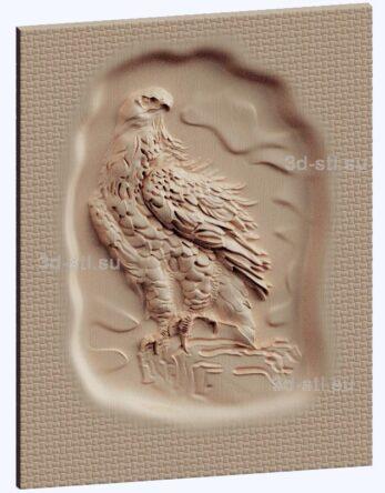 3d stl модель-орел панно № 1129