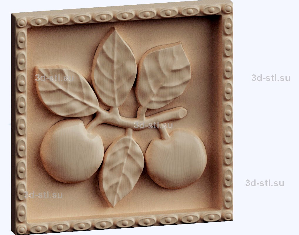 3d stl модель-яблоки панно № 1130