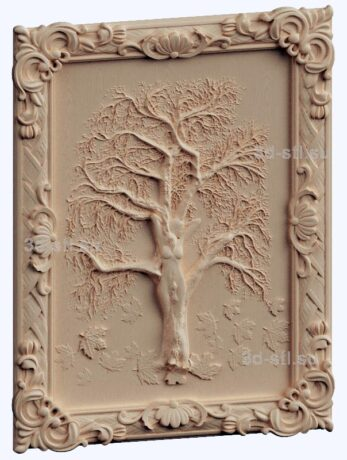 3d stl модель-древо жизни панно № 1134