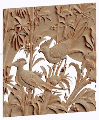 3d stl модель-панно   птицы