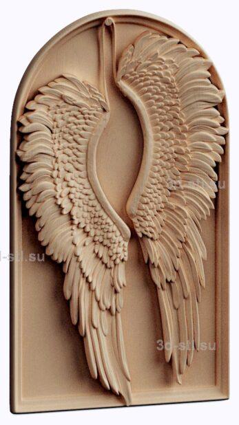 3d stl модель-панно  Ангельские крылья в ожидании