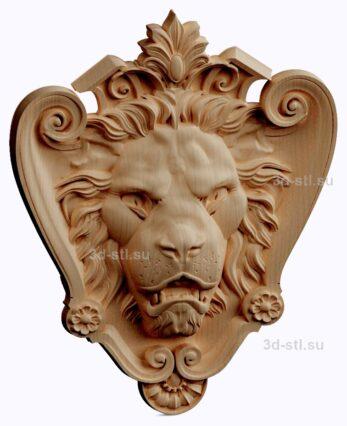 3d stl модель-панно Лев