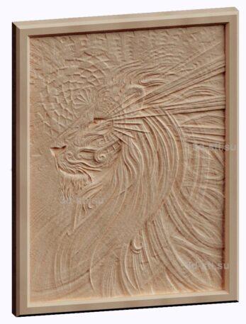 3d stl модель-панно Тигр